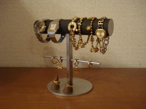 誕生日プレゼントに!丸パイプ腕時計、ブレスレット、イヤリングスタンド 指輪スタンド付き(固定していません)  ak-design
