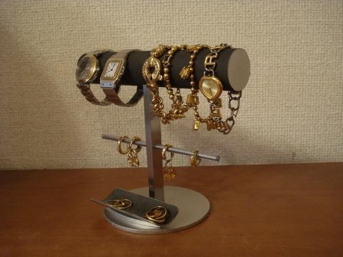 クリスマスに! 丸パイプ腕時計、ブレスレット、イヤリングスタンド トレイ付き ak-design