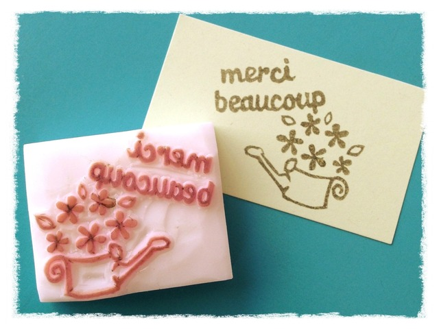消しゴムはんこ  flower*merci beaucoup