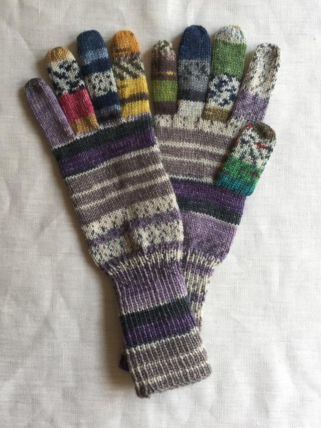 手編み5本指手袋 No.51
