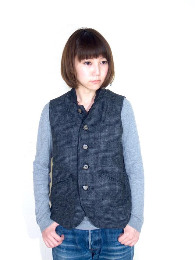 ojisan vest Women size/ gray