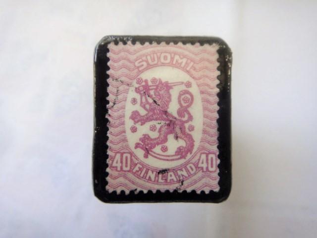 フィンランド  切手ブローチ1499