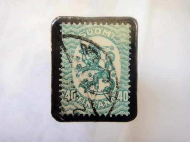 フィンランド  切手ブローチ1504