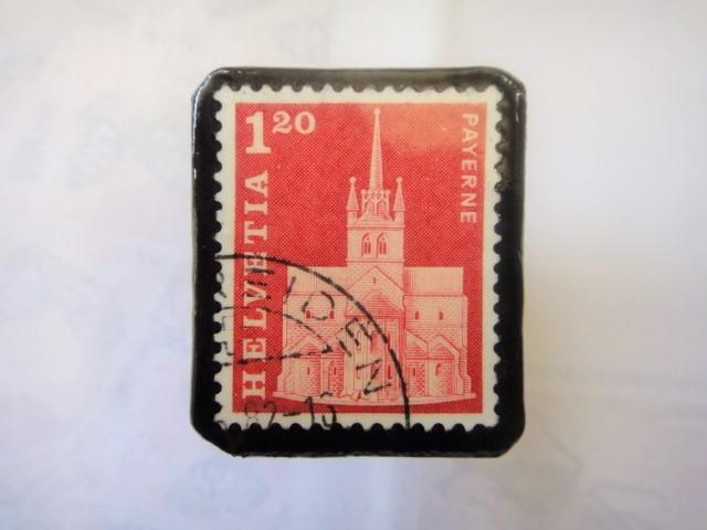スイス  切手ブローチ1507