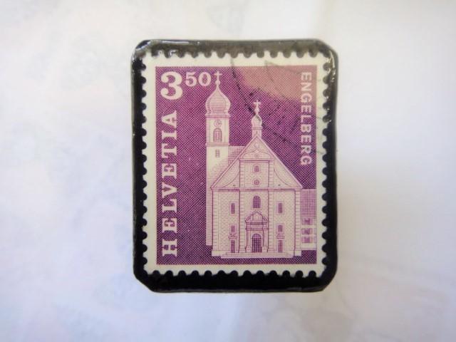 スイス  切手ブローチ1509