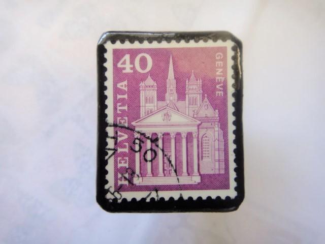 スイス  切手ブローチ1511