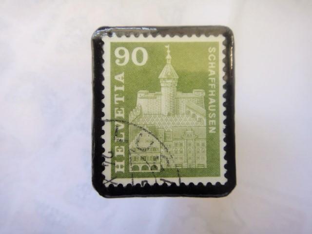 スイス  切手ブローチ1512