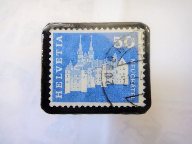スイス  切手ブローチ1513