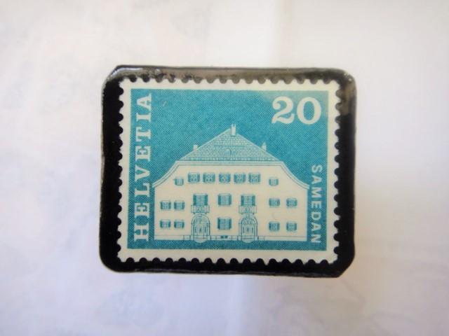 スイス  切手ブローチ1514