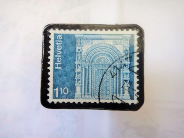 スイス  切手ブローチ1515
