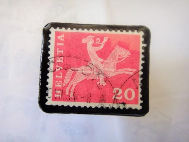 スイス  切手ブローチ1517