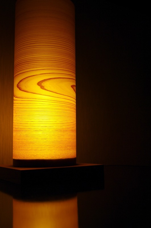 Akita cedar interior light .  (Cylinder)
