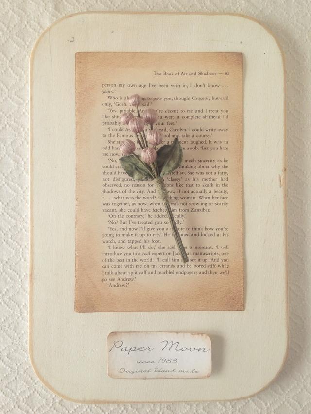 巻き玉の木の実コサージュ(灰紫)