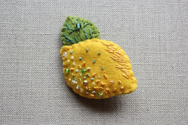 レモンブローチ