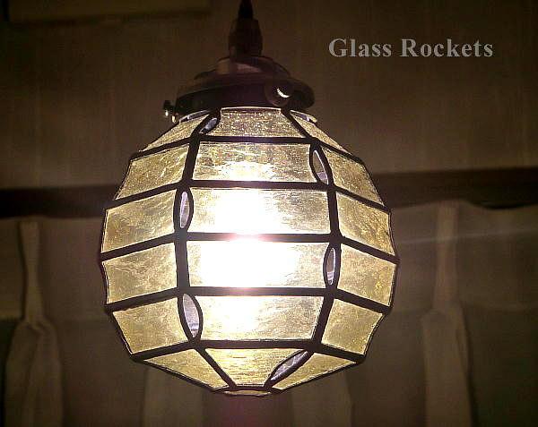 ステンドグラス 照明 ペンダント 「円灯(小)」 ランプ(再販:受注制作)