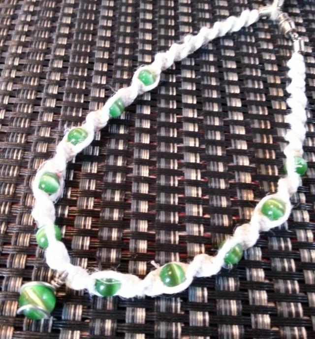 アンクレット 049 ホワイトxグリーン