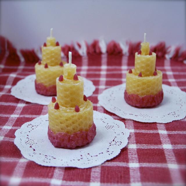 くるくるケーキ:ミツロウキャンドルakarizm