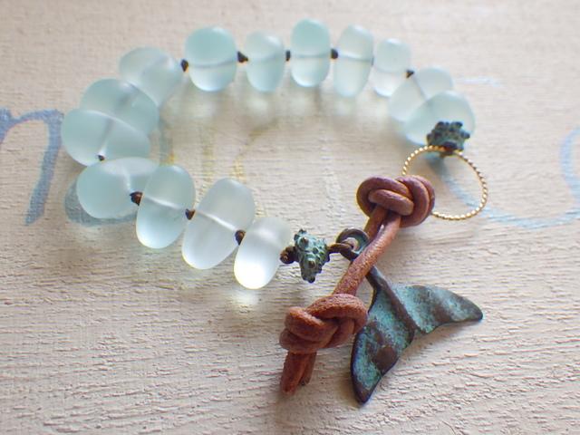 Seaglass Bracelet -- Whale Tale