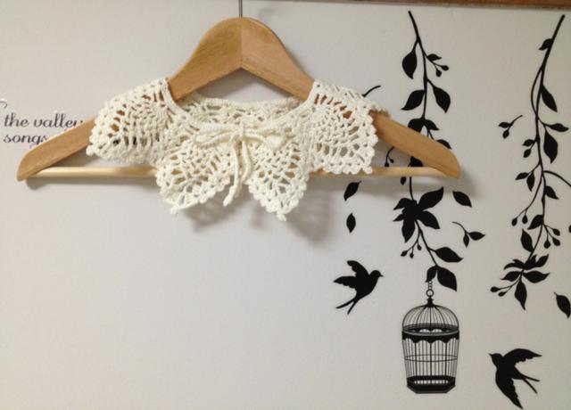 パイナップル編みの付け襟