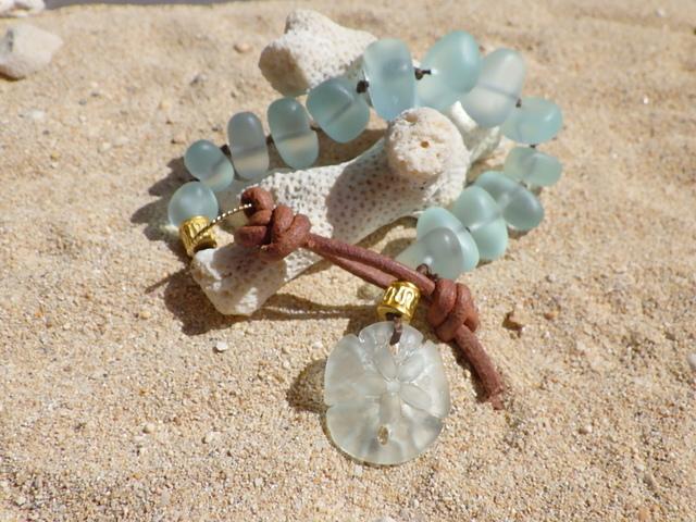 Seaglass Bracelet--Sand doller