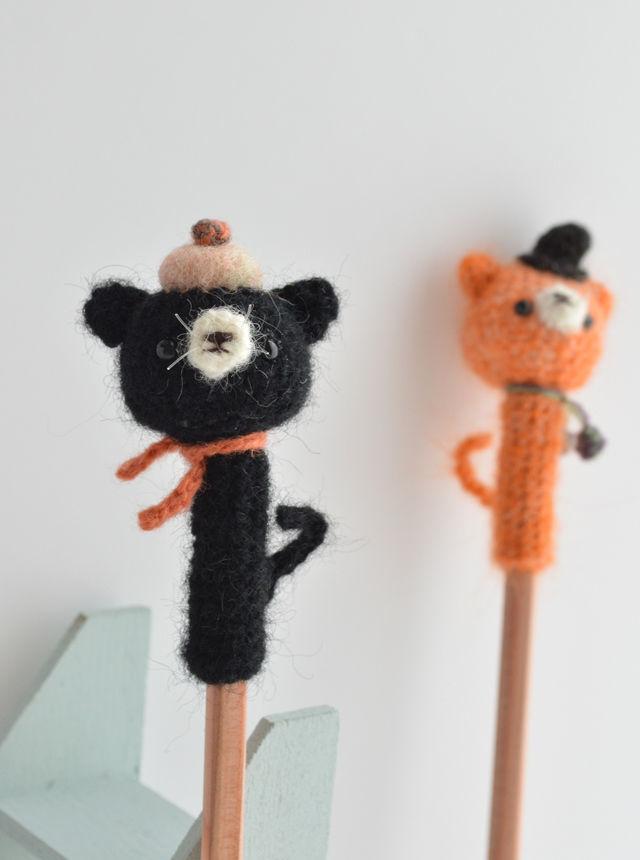ハロウィン鉛筆帽子|黒ネコ