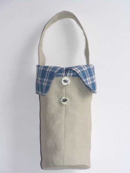 シャツスタイルのペットボトルケース (ブータの絵ボタン)