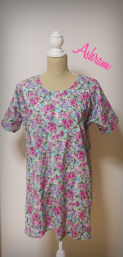 simple*longtunic watercolor Pink