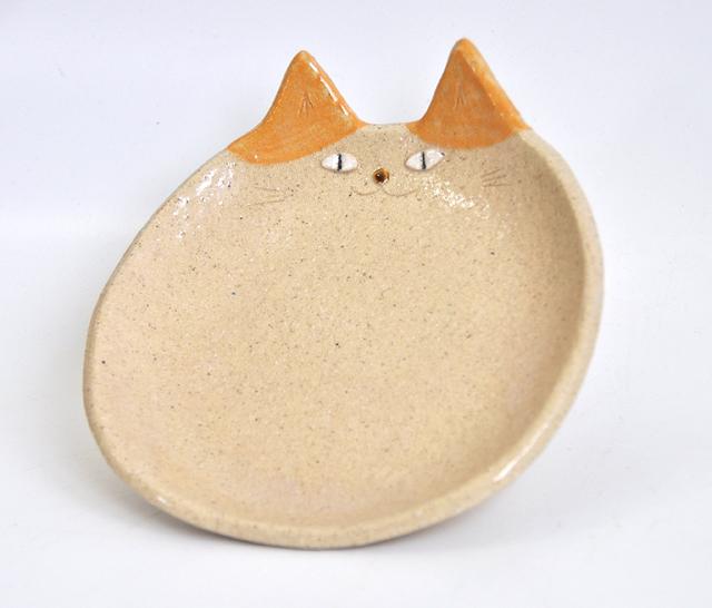 ねこ皿(橙色はちわれ)レギュラーサイズ
