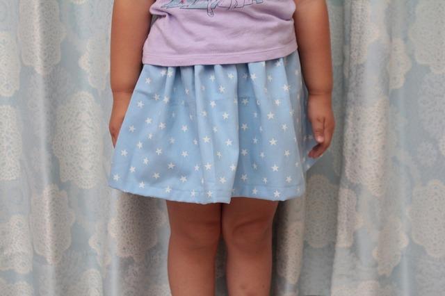 子供用スカート(星)