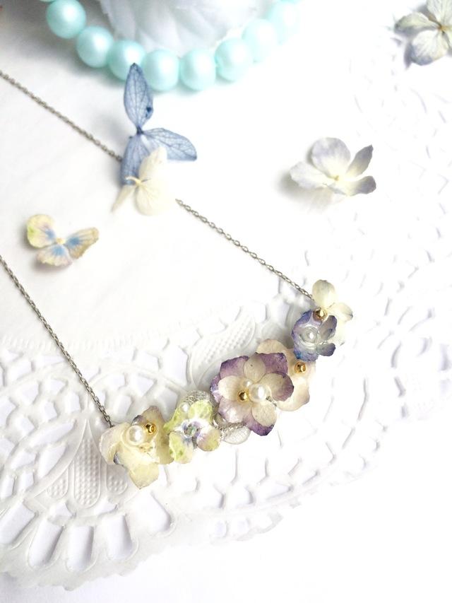アンティーク紫陽花のネックレス☆限定1点☆