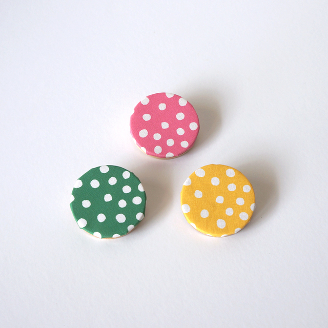 rondo brooch - dot ( ピンク / グリー...
