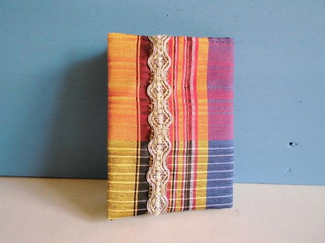 SALE チュニジア布のブックカバーF