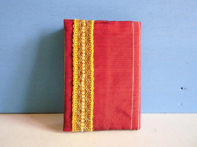 SALE チュニジア布のブックカバーE
