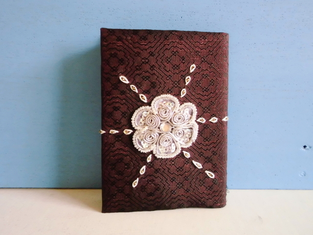 SALE チュニジア布のブックカバーD