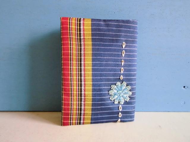 SALE チュニジア布のブックカバーA