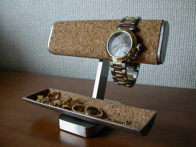 プレゼントに!だ円パイプ、小物入れ付き腕時計スタンド ak-design