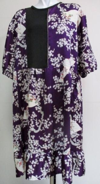 着物リメイク 着物で作ったチュニックワンピース 1849