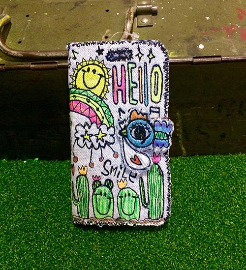 コウノトリ刺繍スマホケース(iPhone6Plus/6sPlus,7Plus用)
