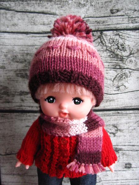 メルちゃんサイズ 帽子とマフラーセット