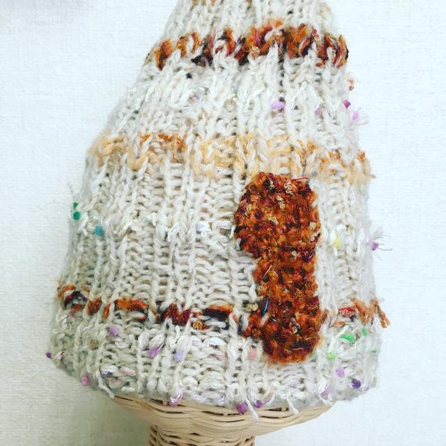 ウール ボーダーニット帽