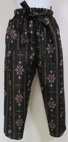 着物リメイク 着物で作ったサブリナパンツ 1851