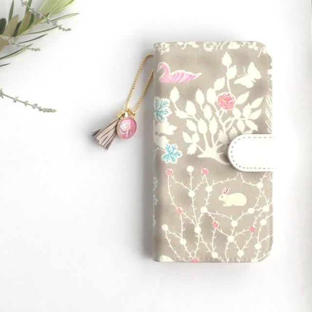 リバティ iphone7 手帳型ケース(M様 専用ページ)ストラップ付 yoshie