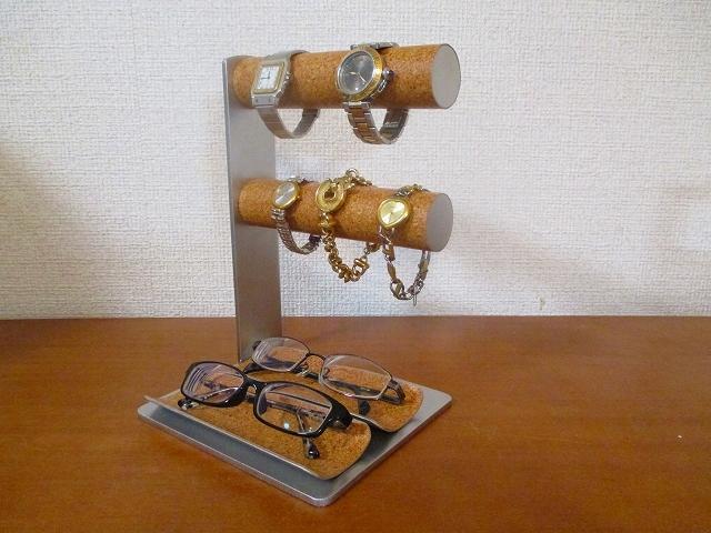 腕時計スタンド 丸パイプ腕時計、ダブルメガネトレイスタンド  ak-design