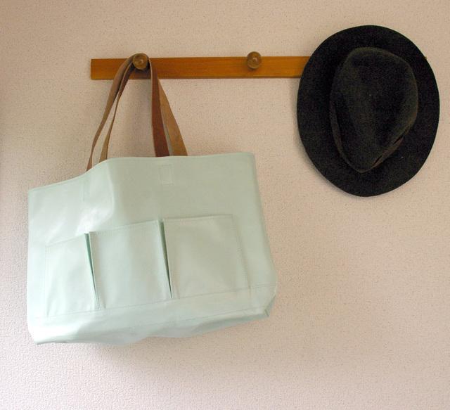 牛革 ブルー ツールバッグ レザーバッグ