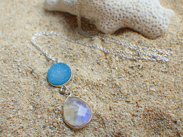 Sand bar  necklace *sv925*