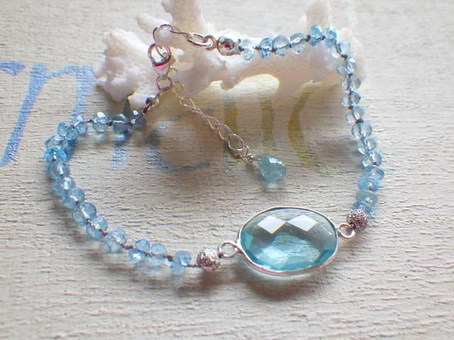 ??再販??Framed Aquamarin Bracelet *sv925*