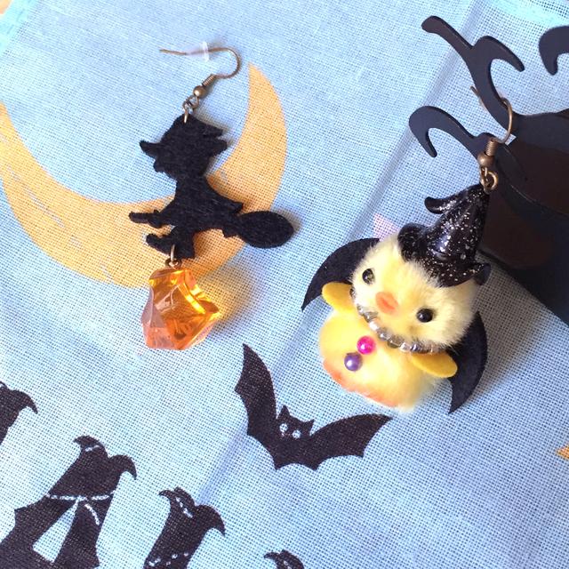 魔女っ子ヒヨコ(yel)と魔法使いのピアス