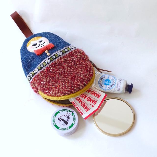 ������ѥ�Ĥ���HAMAO�Υߥ˥ݡ��� ��used denim �� red boucle��