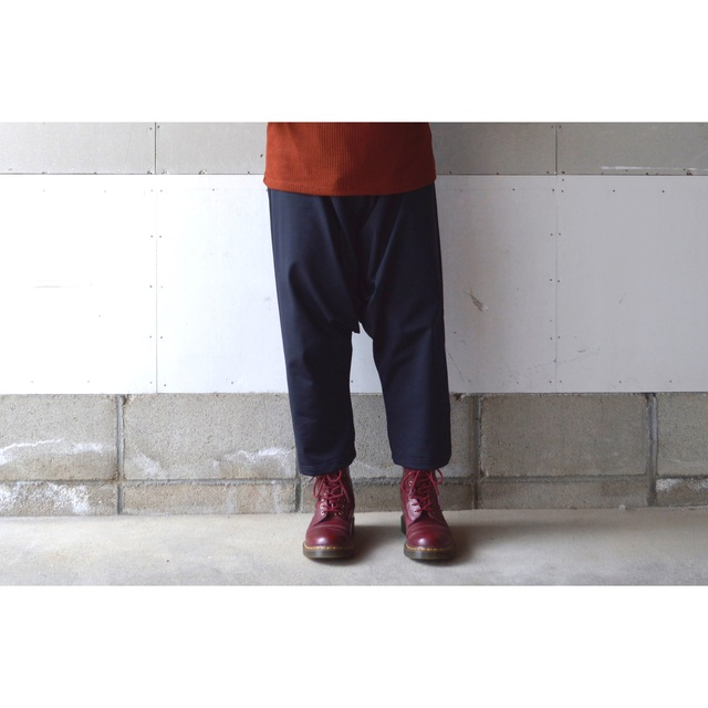 RAISED FABRIC SARROUEL PANTS BLACK��S...