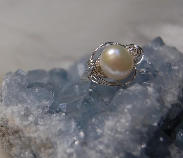 淡水パールのリング